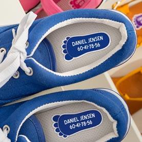 Navnemærker til sko
